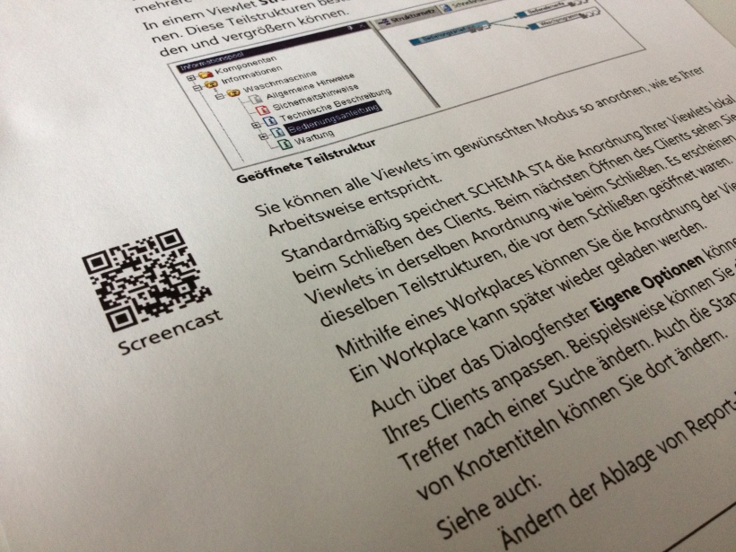 QR-Codes in Handbüchern